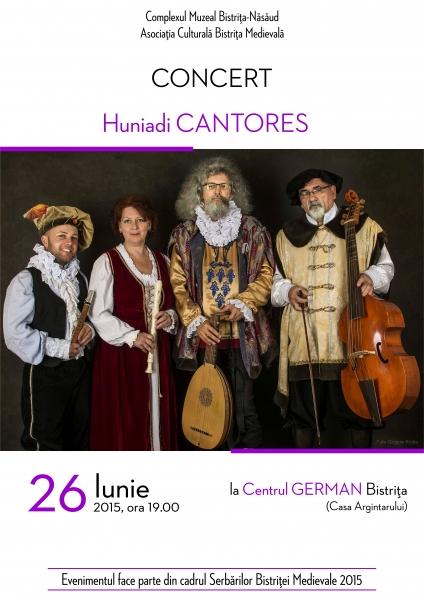 Concert de muzică medievală şi renascentistă cu Huniadi Cantores