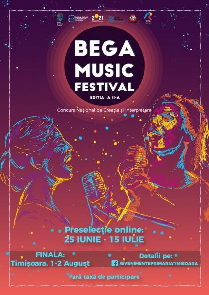"""CONCURSUL NAȚIONAL DE INTERPRETARE VOCALĂ ȘI CREAȚIE """"BEGA MUSIC FESTIVAL""""- EDIȚIA A II – A"""