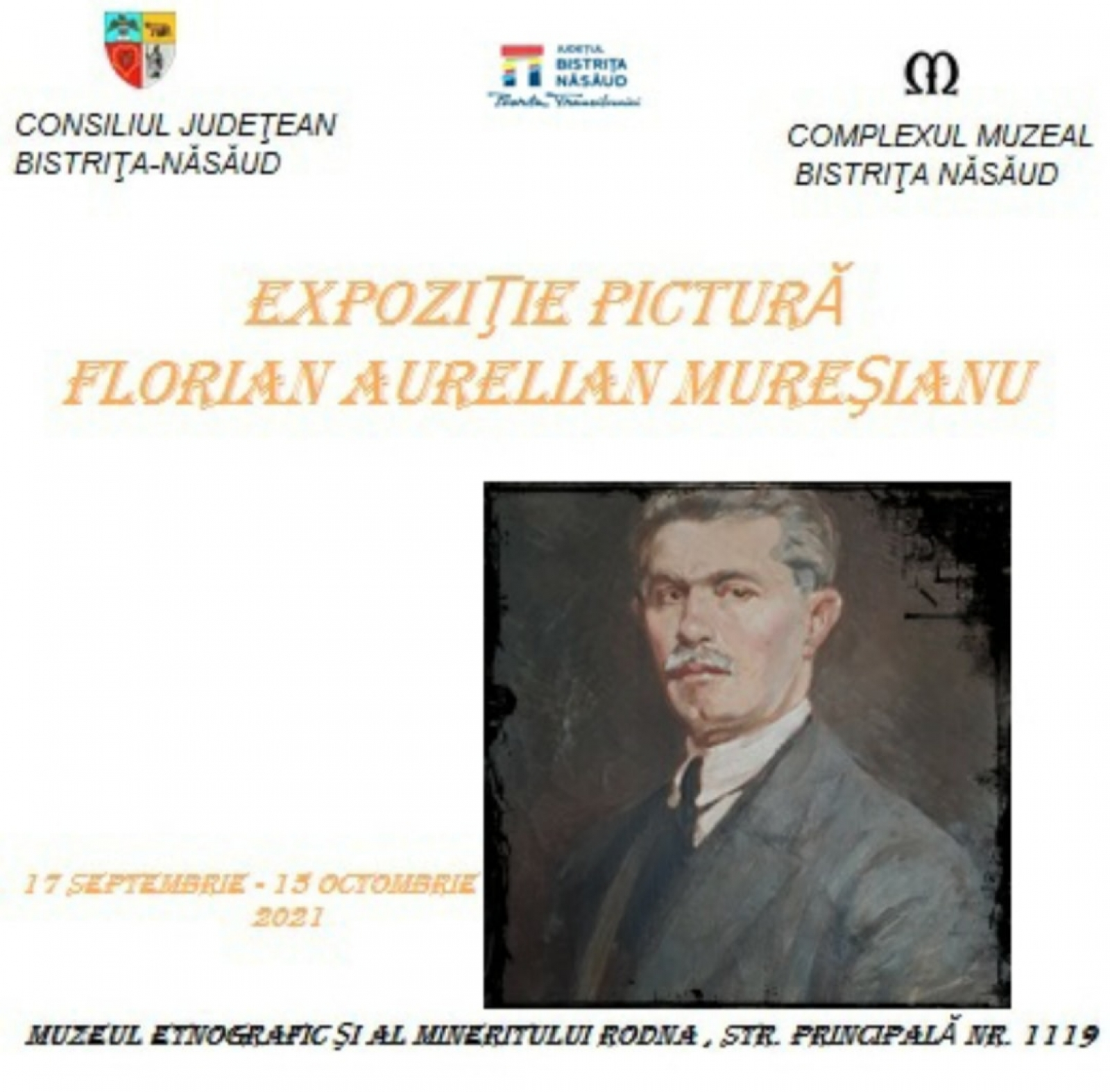 """Expoziție de pictură """"Florian Aurelian Mureșianu""""la Rodna"""