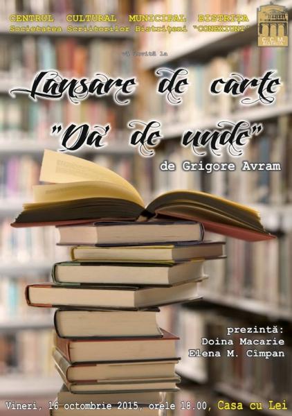 """LANSARE DE CARTE LA GALERIILE """"CASA CU LEI"""""""