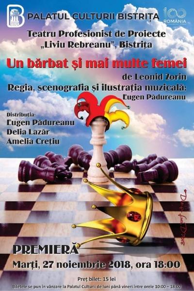 """DESCOPERĂ SECRETUL ETERNULUI FEMININ ȘI FIREA SCHIMBĂTOARE A """"SEXULUI SLAB """" ÎN PIESA """"UN BĂRBAT ȘI MAI MULTE FEMEI"""" - PIESĂ CE VA DESCHIDE FESTIVALUL DE TEATRU ȘI LITERATURĂ!"""