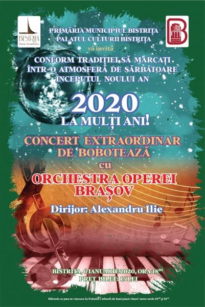 VĂ INVITĂM SĂ MARCAȚI NOUL AN 2020 CU UN CONCERT EXTRAORDINAR DE BOBOTEAZĂ !